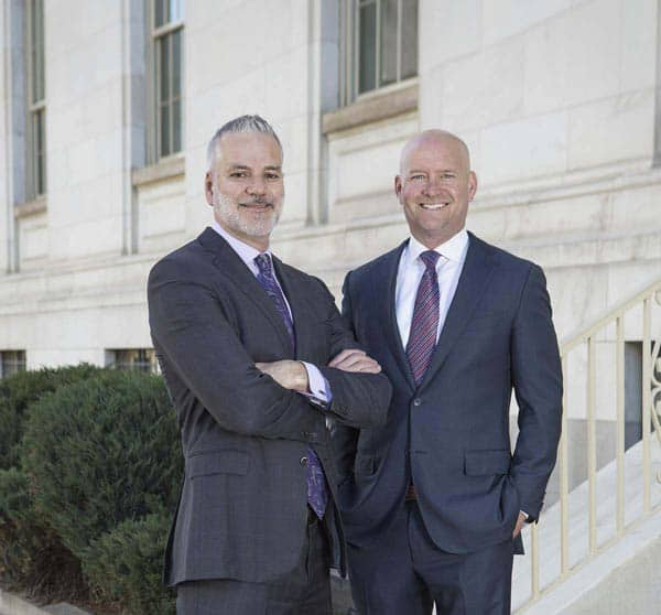 Kyle Bachus & Darin Schanker at Courthouse